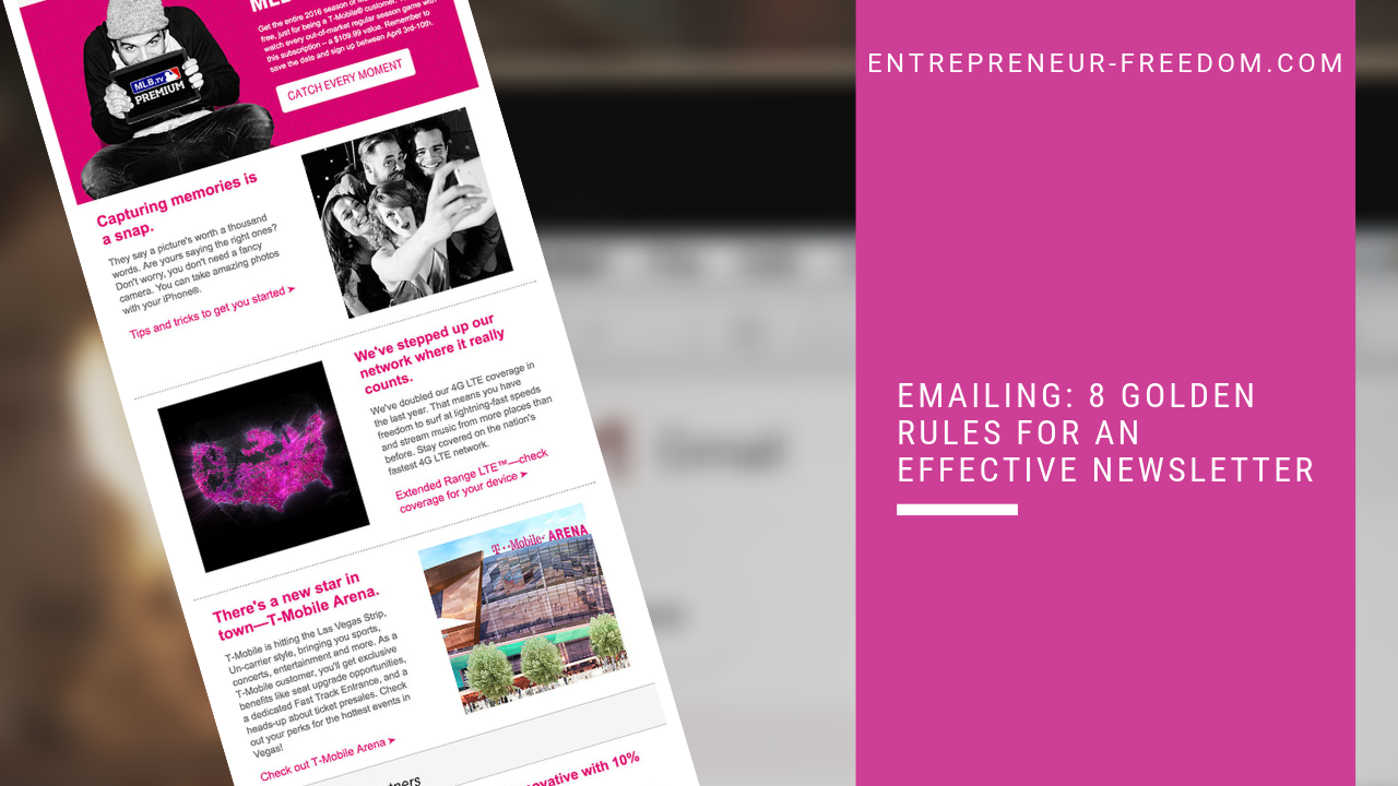 Emailing 8 golden rules for an effective Newsletter