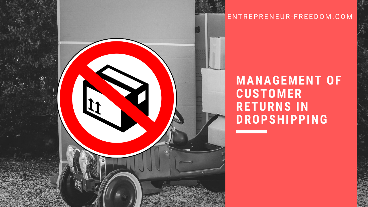 Management of customer returns in dropshipping